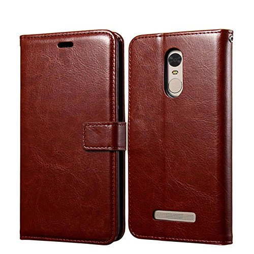 Xiaomi Redmi Note 3 Pro Special Edition Case, Heyqie Premium Leather Folio [Kickstand Feature] with Card Holder Flip Wallet Cover Case for Xiaomi Redmi Note 3 Pro Prime Global version 152mm - Brown