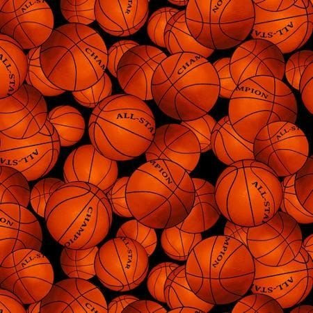 - Basketball Fleece Fabric By The Yard