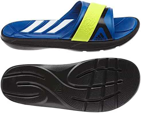 outlet store 0d169 deb13 Adidas Nitrocharge Slides - Black Blue Beauty Electricity (Men)