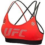 Reebok UFC Women's Red Training Speedwick Compression Fight Bra AP6838