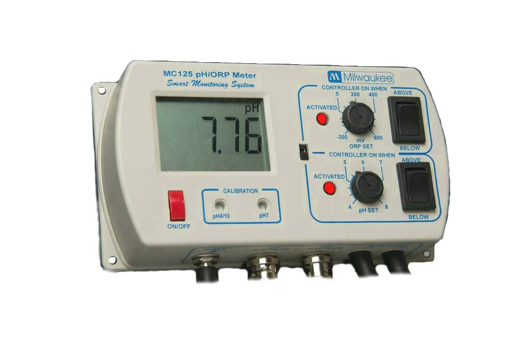 Milwaukee MC125 pH/ORP Controller with Mounting Kit, 0.00 to 14.00 pH, +/-0.2 pH Accuracy by Milwaukee