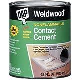 Dap 25332 Weldwood Nonflammable Contact Cement, 1-Quart