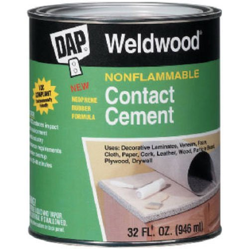 - Dap 25332 Weldwood Nonflammable Contact Cement, 1-Quart