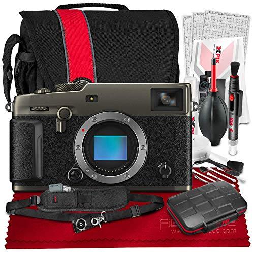 FUJIFILM X-Pro3 Mirrorless Digital Camera (Dura Black) + Camera Bag, 64GB Memory Card, Xpix Memory Card Case, Xpix Camera Shoulder Strap with Quick Release & Xpix Deluxe Cleaning Accessories