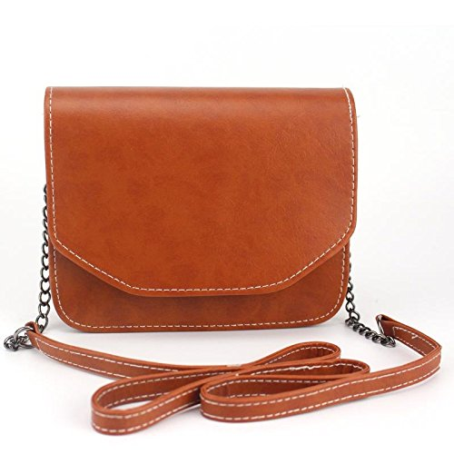 Shoulder Marron Handbags Retro Handbag Lady Women Mini Square Chain Clutches Bags Hrph Bag Bag Small Messenger w7qxXn