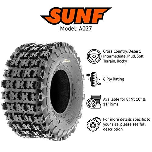 Sun F A027 ATV Tire 22x11x9,6 PLY,Rear by SunF (Image #2)