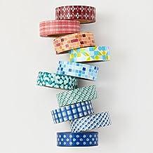 Washi tape set - 10 geometric washi tapes - value pack - DIY - decorative tape - Love My Tapes