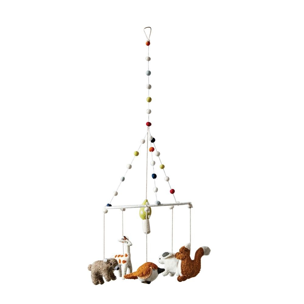 First of a Kind Wool Woodland Animal Mobile 27'' H x 8.75'' Rd Prefect addition to any home/Nurseries