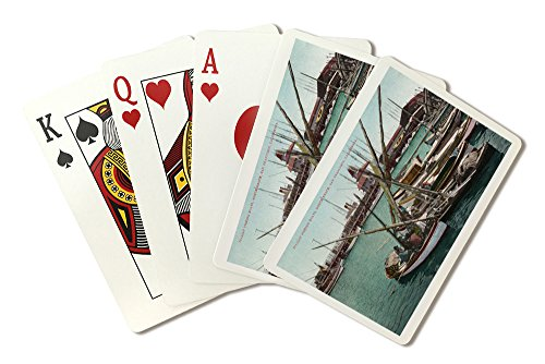 San Francisco, California - North Beach, View of Italian Fishing Boats (Playing Card Deck - 52 Card Poker Size with Jokers) (Best Italian North Beach Sf)