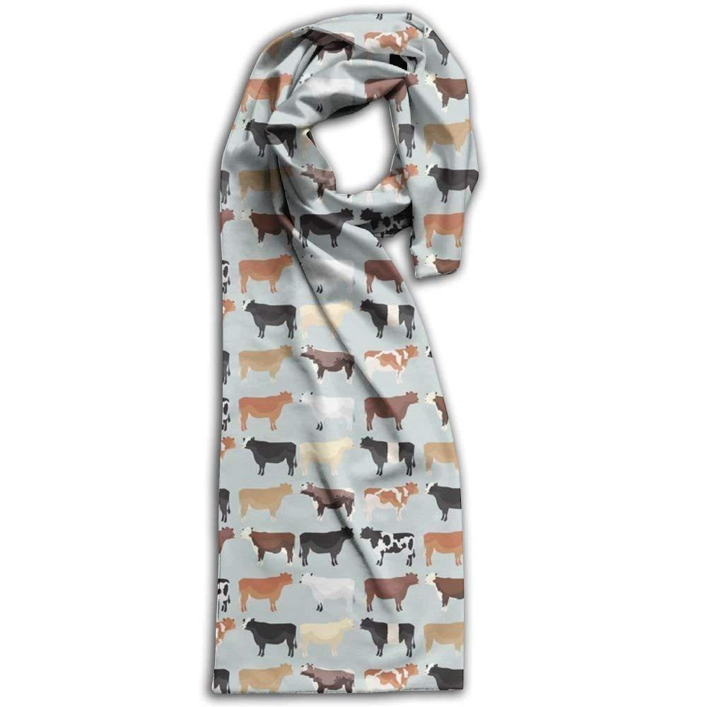 Women's Men's Fall Winter Fashion Scarf Long Shawl Cotton Scarves Print Scarves Farmhouse Cows Winter Warm Soft Chunky Large Blanket Wrap Shawl Scarf 1091LPS4QPEM1QDO2AY9
