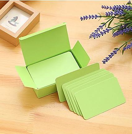 bloc de notas en blanco. Paquete de tarjetas peque/ñas para recordatorios Brosuper 100 pzas color caqui para bricolaje bloc de notas en blanco