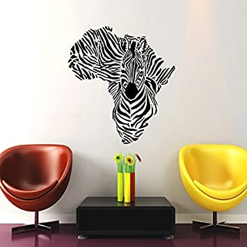 Map Of African Jungle.Amazon Com Wall Decal Map Of Africa Zebra Animals Jungle Safari