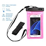 NOKEA Universal Waterproof Case, Dry Bag for Apple iPhone 7, 6S, 6, 6S Plus, SE 5S 5C, Samsung Galaxy S7 Edge, S7, S6, S5, S4, Note 5 4, HTC LG G5, G4, Sony Nokia Motorola up to 6.0