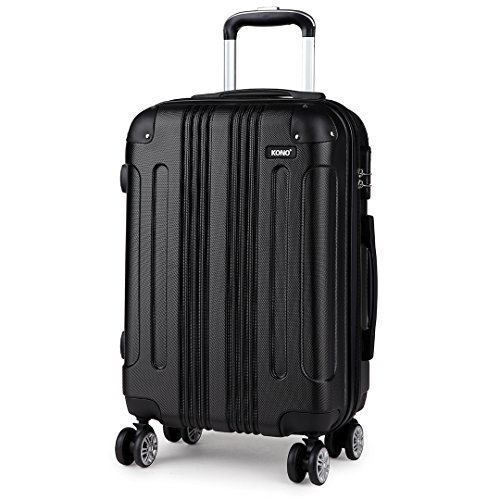Kono Hard Shell Luggage Lightweight ABS 4 Wheels Spinner Business Trip Trolley Case Suitcase (28-inch)