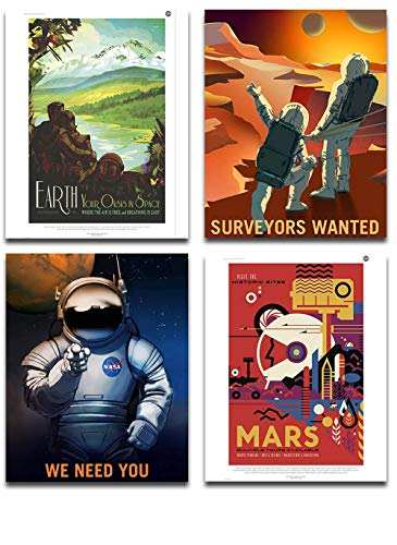 - NASA Jet Propulsion lab Posters Art Prints - Set of Four Photos (8x10) Unframed - Great Gift for Space Exploration Enthusiasts