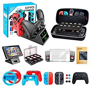 Accessories Kit Bundle for Nintendo Switch, OIVO 12 in 1 Accessories Bundle Kit for Nintendo Switch Console