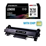#5: LEMERO (WITH IC CHIP) Compatible Brother TN760 TN730 High Yield Black Toner Cartridge - for Brother HL-L2350DW HL-L2395DW DCP-L2550DW MFC-L2710DW MFC-L2750DW