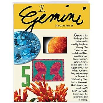J9444 Gemini Astrological Sign Birthday Card