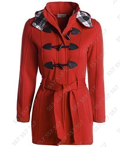 Women's Plus 16 to SS7 Size 28 Red Sizes Coat Hood vapWwWZdq