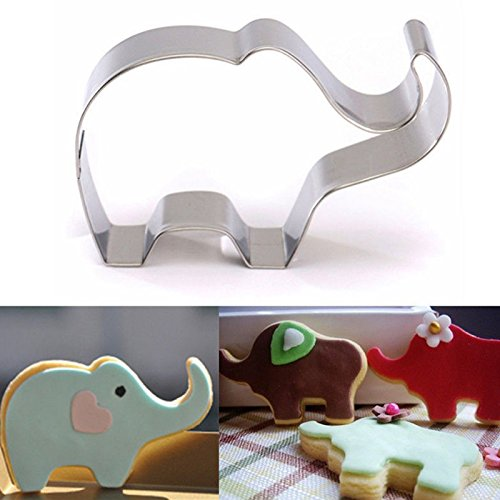 Zehui Stainless Steel Cookie Cutter Cartoon Elephant Biscuit Mold for DIY Biscuit Chocolate Cake (Moldes Para Halloween)