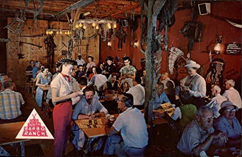 Jim McCorvey's - World Famous Old South Bar-B-Q Ranch Fort Myers, Florida Original Vintage Postcard