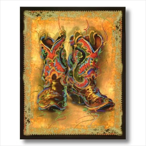 Amazon Western Cowboy Boots Rodeo Contemporary Wall Picture Art Print Decor Posters Prints