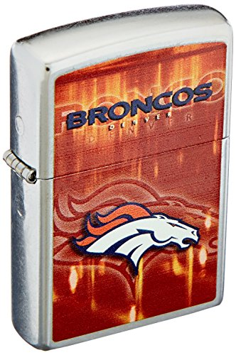 Broncos Zippo Denver Lighter Nfl (Zippo NFL Denver Broncos Street Chrome Pocket Lighter)