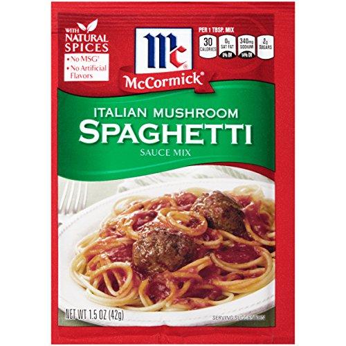 (McCormick Italian Mushroom Spaghetti Sauce, 1.5 oz (Pack of 12))