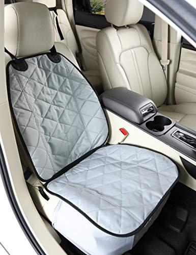 4Knines Front Seat Cover for Dogs (Grey)- USA Based Company