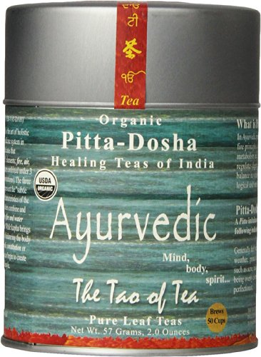 The Tao of Tea Ayurvedic Tea Pitta, Certified Organic, 2 Ounce Tin