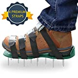 Aerating Your Lawn Aerator Lawn Shoes Sandals Set - 4 Adjustable Straps with Metal Buckles for Heavy Duty Work - Spiked Shoes for Grass Aerating Lawn Soil Garden from ZIAN