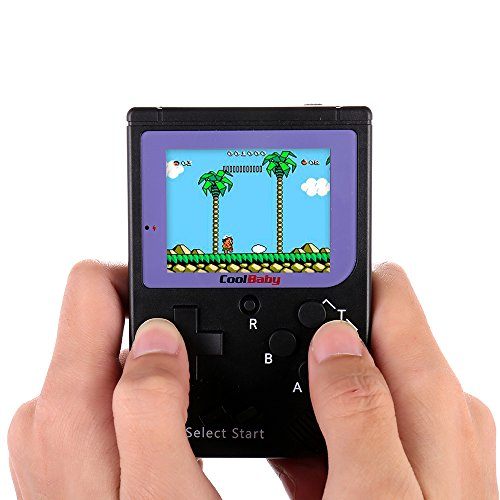 (Goolsky Pocket Handheld Video Game Console 2.2in LCD 8 Bit Mini Portable Game Player Built-in 129 Games)