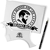 BEARD BUD Beard Shaping Tool Brush Styling Template with Beard Comb and Pencil Complete Beard Kit with Mens Beard Trimmer Line Up Instruction Guide Included