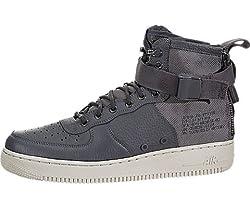 Nike Men's Sf Af1 Mid Dark Greydark Grey Light Bone Basketball Shoe 8.5 Men Us