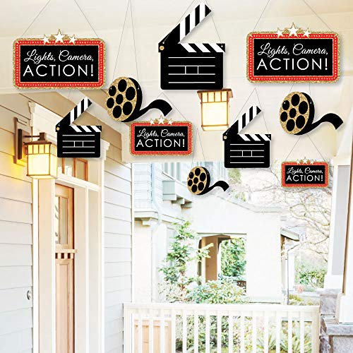 (Hanging Red Carpet Hollywood - Outdoor Movie Night Party Hanging Porch and Tree Yard Decorations - 10)