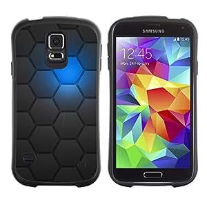 Suave TPU Caso Carcasa de Caucho Funda para Samsung Galaxy S5 SM-G900 / Sci-Fi Futuristic Robot Pattern / STRONG