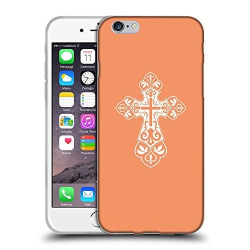 """GoGoMobile Coque de Protection TPU Silicone Case pour // Q09250607 Croix chrétienne 35 Mandarine // Apple iPhone 6 PLUS 5.5"""""""