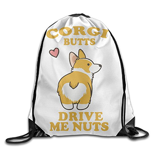 Cute Corgi Butts Youth Drawstring Outdoor Travel Sport Backpack