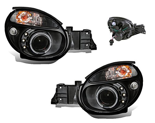 SPPC Projector Headlights Black Assembly Set with Halo for Subaru Impreza - (Pair) Driver Left and Passenger Right Side Replacement