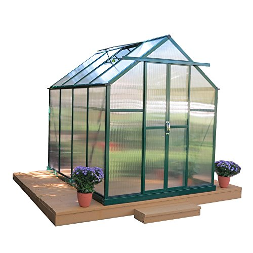 Grandio Element Walk-In Greenhouse Kit (6x8, Heavy Duty Base, Earth/Soil ()