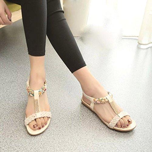 Women Sandals Elastic Strap Shoes Casual Shoes Sandals Comfort Sandals Anshinto Summer Shoes for Womens