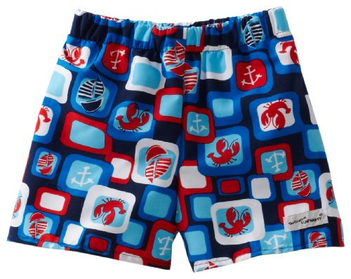 Flap Happy Baby Boys' Upf 50+ Junior Surf Trunk