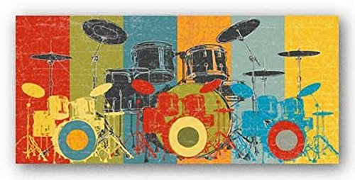 Heart Beat (Drums) by M.J. Lew Art Print Poster 12x24 ()