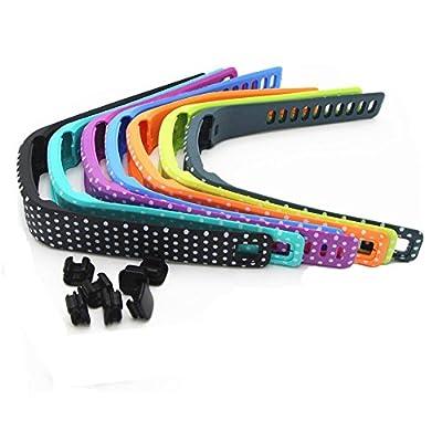 Wrist Bands for Garmin Vivofit, Polka Dot Replacement Wristbands with Metal Clasps for Garmin Vivofit 1 Gen 7 Pack