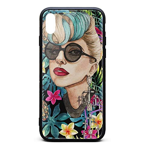 Phone case for iPhone x/xs/xs max Fashion Shock Absorption TPC Tempered Glass Unique Hip Cute Cover Case ()