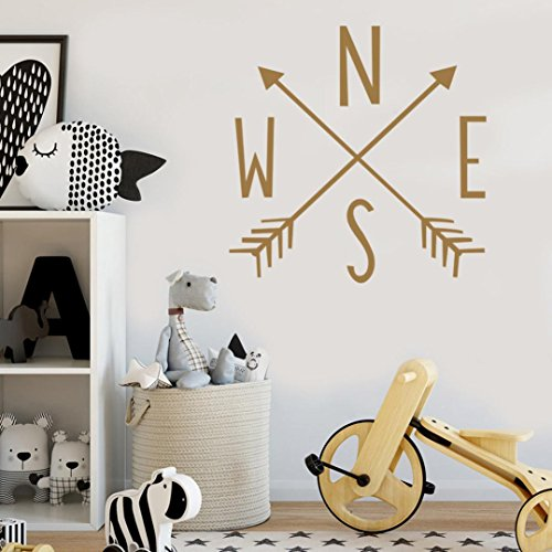 Wood Elephant Mural (YJYDADA Wall Stickers,Removable Art Vinyl Mural Home Room Decor Wall Stickers,56 x 23cm)
