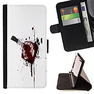 For Samsung Galaxy S3 Mini I8190Samsung Galaxy S3 Mini I8190 Bloody Toast Beautiful Print Wallet Leather Case Cover With Credit Card Slots And Stand Function