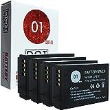 DOT-01 4x Brand Canon EOS M50 Batteries for Canon EOS M50 DSLR and Canon M50 Battery Bundle for Canon LPE12 LP-E12