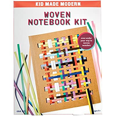 Kid Made Modern Woven Notebook Craft Kit - Kid Journal Arts and Crafts: Toys & Games