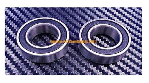 Metal Goma Sellado Rodamiento de Bola 18307-2RS 4 Piezas 18x30x7MM Negro